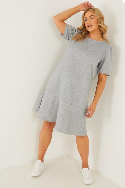 Curve Grey Jumper Dress